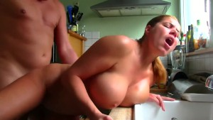 HD fuck in the kitchen