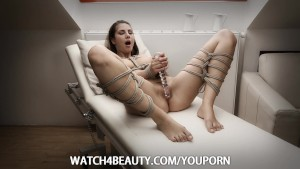 W4B Bondage Girl Masturbating