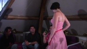 french chicks first anal gangbang