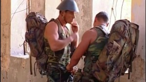 Beefy Military Men Sucking and Fucking