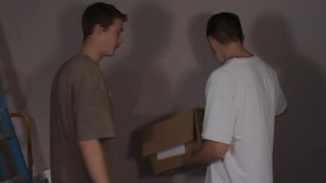 Two young guys have fun in a garage - Street Trade Studios