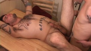Two tattoo'd gay punks fuck after a shower - Street Trade Studios