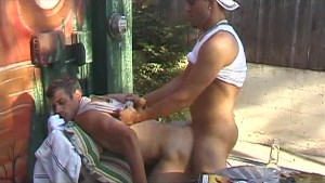 Hot Fuck In The Yard - Factory Bareback