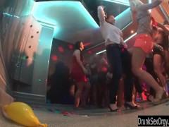 Slutty girls dancing erotically in a club