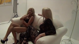 Behind the Scenes with hot blondes Leya and Jessica