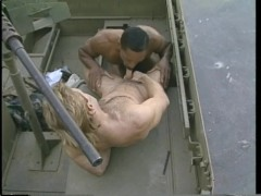 Soldier gets drilled by his sergeant - Stallion Video