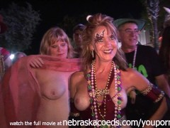 Hotties Nude and Body Painted in Public at Florida Festival