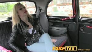 FakeTaxi Big red lips and Fake big tits
