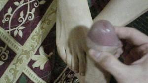 Cheating Wife Footjob Tease