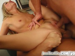 Ass Traffic anal babe takes three cumshots