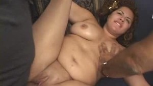 Plumper Fucked And Jizzed On By Two Gents