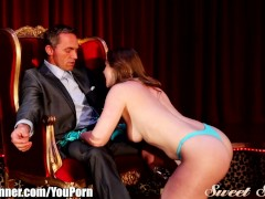 SweetSinner Redhead Stripper Fucks Her Boss