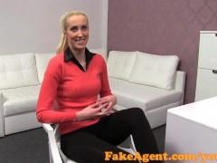 FakeAgent Skinny blonde takes Creampie in Casting