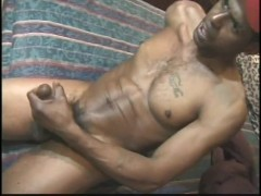 Jacking off his big black cock - East Harlem Productions