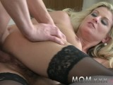 MOM Blonde Hairy MILF Loves Cock