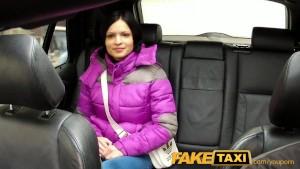 FakeTaxi Woman with big natural tits rides cock