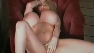 Huge Tit Blonde Strips and Dances