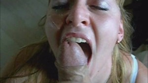 Blonde Wife Sucking Cock And Gets Facialized
