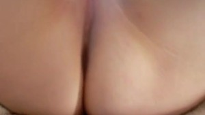 Chubby gf playing with her shaved vagina