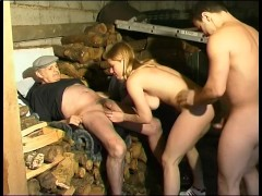 Babe fucked on and with some wood - Telsev