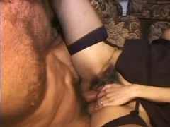 Babe gets her hairy twat fucked hard - Telsev