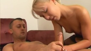 Blonde European slut gets fucked and jizzed on cam