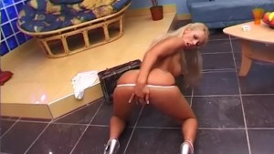 Tall Blonde Strips Before Satisfying Her Man - Telsev