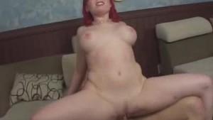 Cock Ridin' Redhead Milf Babe