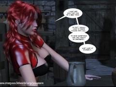 Picture 3D Comic: Crimson Sonja. Episodes 1-2