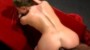 amazing amateur gets anal from a huge black cock then sucks it off