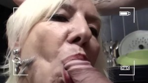 French milf blows her boy toy - Telsev