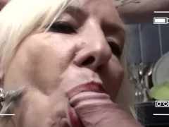 - French milf blows her ...