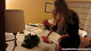 Hottie Samantha's behind the scenes footage