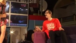 lucky nerd on sex show stage