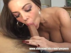 Latina Brunette Hops On A Stiff Dick And Rides Til She Cums