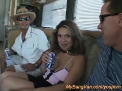 her first bangbus orgy