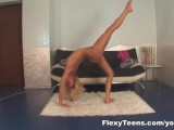 Tanya shows nude gymnastics