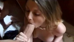 Cute girlfriend blowing her boyfriend