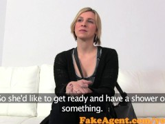 FakeAgent Horny blonde fucked and gets creampie in Casting