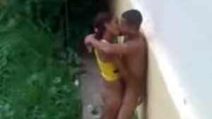Brazilian Teen Fucking Outside On The Rain