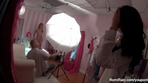 Romi Rain in the dressing Room
