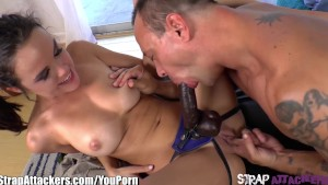 StrapAttackers Dillion Harper Fucks With Strap-On!