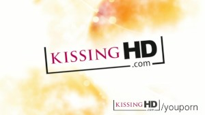 Kissing HD Natural young lesbian girls French kiss deeply and with love