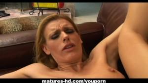 MILF blonde Darryl Hanah has her fun with a cock