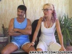 Amateur Milf anal action with cum in mouth