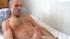 A real swimmer guy gets wanked his huge cock by us on video !