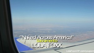 Lola Foxx behind the scenes