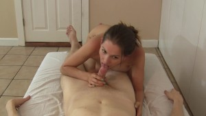 Girl rides amateur guy reverse cowgirl so good he cums QUICK!