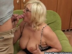 - Blonde granny loves it...