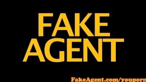 FakeAgent Skinny brunette amateur gets first time Creampie